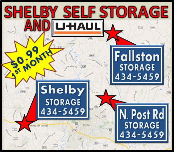 Shelby Self Storage, Fallston, N Post Rd